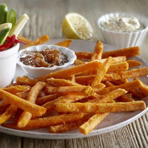 Fries Aviko sweet potato chips sweet potato fries thin cut aviko uk