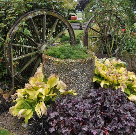 rustic garden feature gardening ideas pinterest