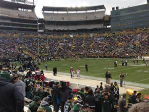 Section 115 Lambeau Field by Lambeau Field Section 115 Row 12 Seat 19 Green Bay