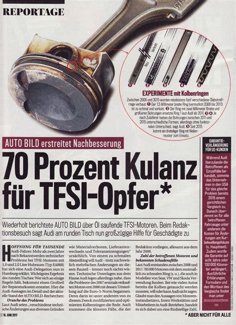 Audi Kulanzantrag by Audi Tfsi Kulanz Seite 1 214 Lverbrauch 1 8tfsi 2 0tfsi
