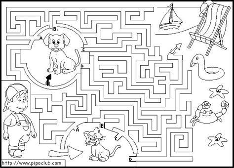 10 laberintos para imprimir colorear y jugar juegos de laberinto pipo club dibujalia dibujos para colorear