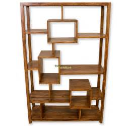 Teak Bookcase Tns Furniture Cube Display Bookcase