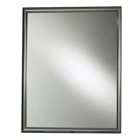 chrome framed medicine cabinet harmony 24 in w x 30 in h x 5 7 8 in d framed recessed