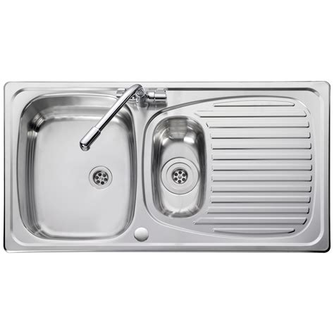 leisure kitchen sink spares leisure euroline 1 5 bowl polished stainless steel kitchen