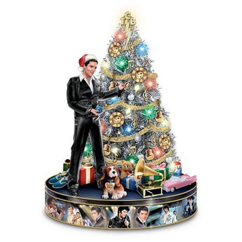 elvis rock n roll pre lit and musical tabletop christmas