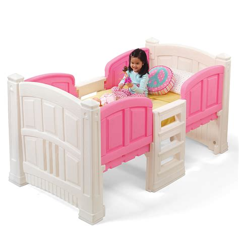 step2 bed girl s loft storage twin bed kids bed step2