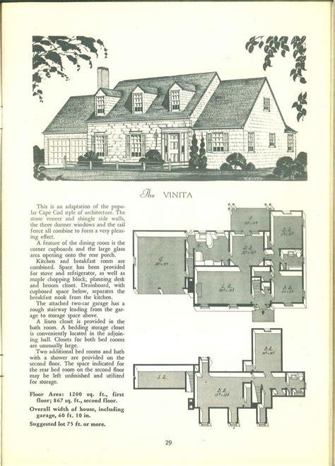 images  vintage home plans  pinterest house