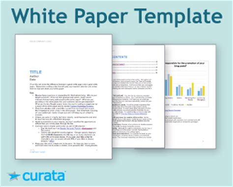 template for a white paper tools white paper template curata