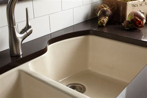 Kohler K 5870 5U 7 Wheatland Undercounter Offset Double Basin Sink with Five Hole Faucet