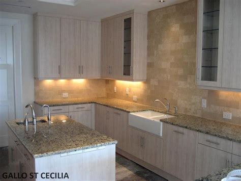 Kitchen Backsplash Ideas With Santa Cecilia Granite In This Picture We Desert Sand Travertine On The Backsplash And The Granite Counter Tops