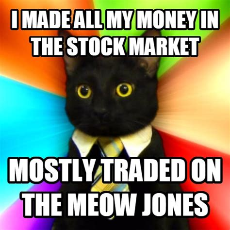 Stock Market Meme - livememe com business cat