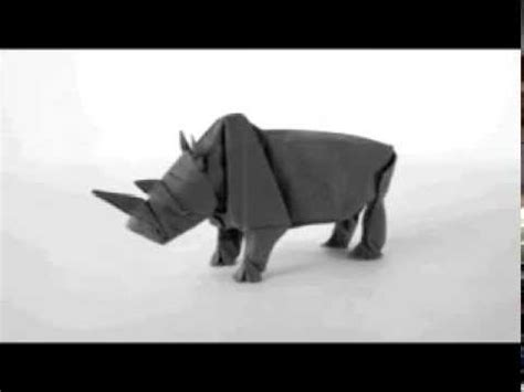 Rhinoceros Origami - how to make an origami rhino origami rhinoceros