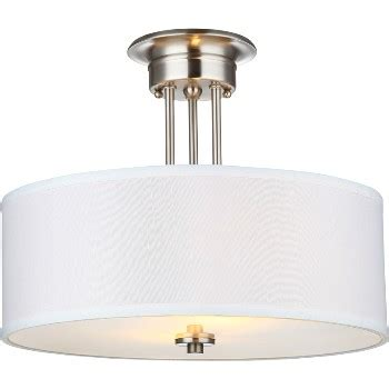 Satin Nickel Ceiling Light Fixtures Buy The Hardware House 209144 Ceiling Fixture 2 Light Semi Flush Satin Nickel Hardware World