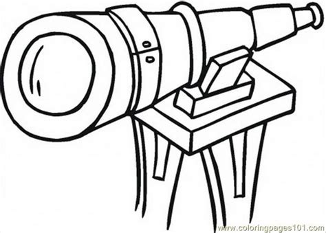 coloring pages big telescope technology optical free