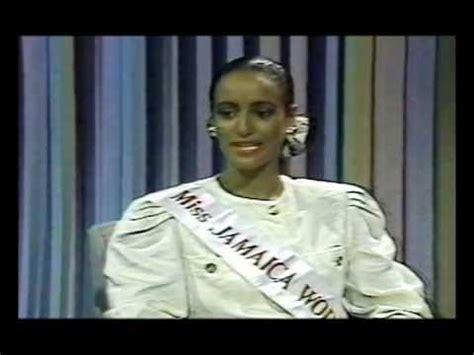 cathy levy miss jamaica sandra foster miss jamaica world 1991 interview on jbc tv