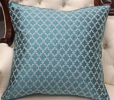 Throw Pillow Fabric by Embroidered Throw Pillow On A Silk Look Taffeta Fabric