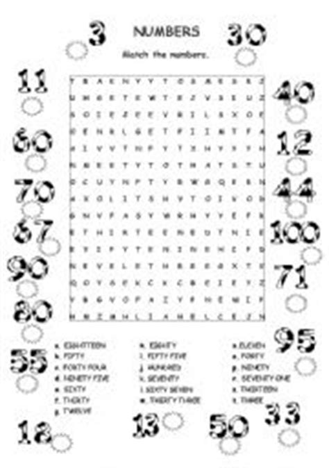 exercises with numbers 1 100 printable english exercises numbers 1 100 wordsearch