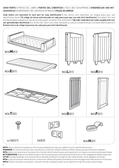 keter store   midi shed spare replacement parts