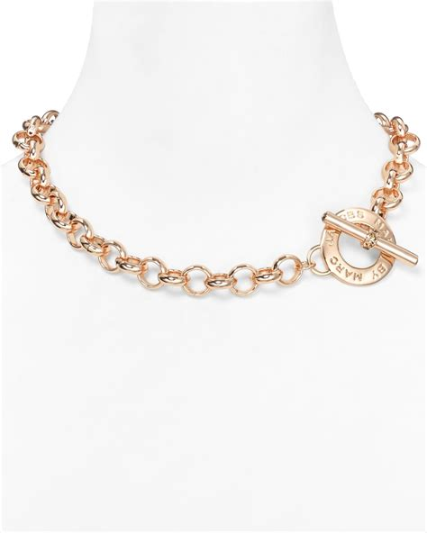 marc by marc toggle necklace 19 quot in gold