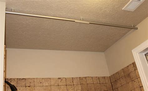 ceiling mounted shower curtain rod bathroom pinterest