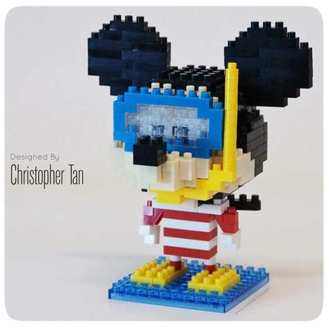 Lego Nanoblock Mickey Captain America 17 best images about nanoblocks on potted