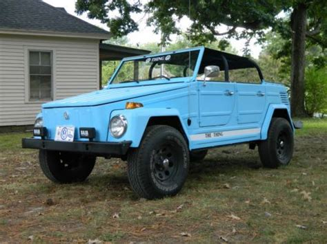 volkswagen 181 light blue buy used restored 1973 vw thing beach ride