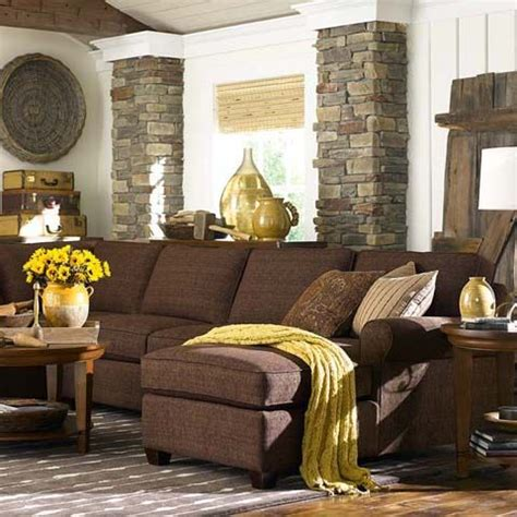 Yellow Living Room Brown Furniture New Grey Trend Is Showing Chocolate Brown Instead Of