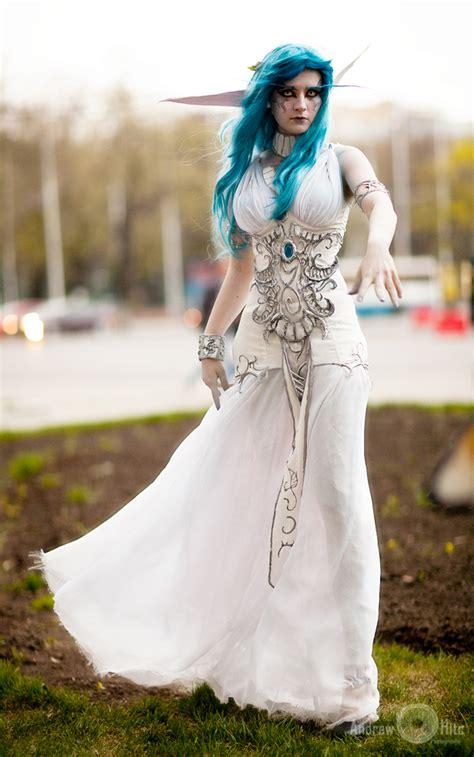 pattern white wedding dress wow tyrande cosplay 2 by andrewhitc on deviantart