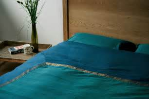 Zari Teal Duvet Cover   Indian Bedding   Natural Bed Company