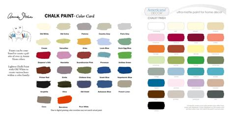 side by side color comparison of sloan chalk paint