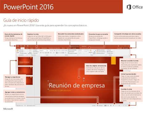 tutorial rapido powerpoint gu 237 a de inicio r 225 pido de microsoft powerpoint 2016