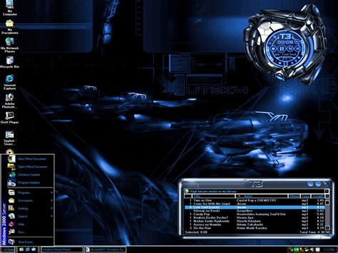 pc all themes free download machine blue desktop theme by kagami5566 on deviantart