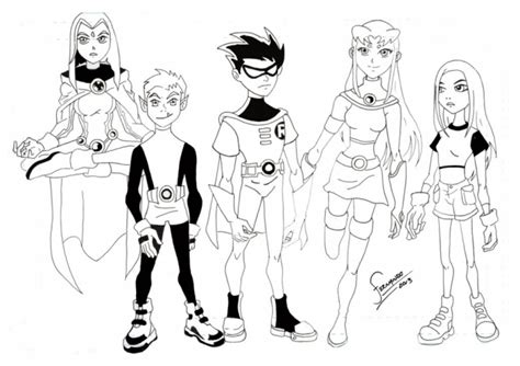 get this kids printable teen titans coloring pages free