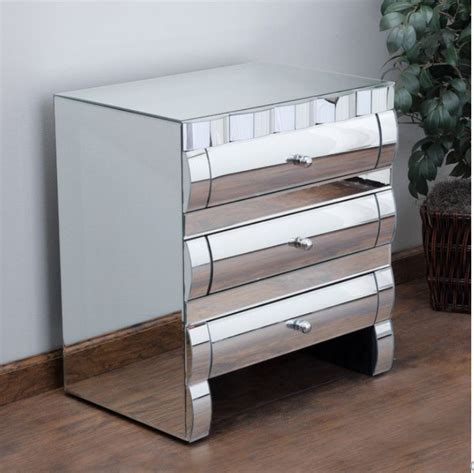 Mirrored Nightstand With Drawers by 8 Mirrored Nightstands For Your Bedroom Furniture