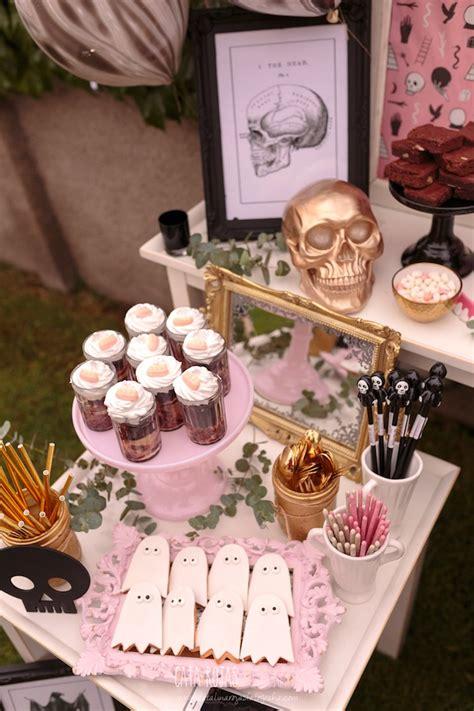 karas party ideas trick  treat  pink halloween party