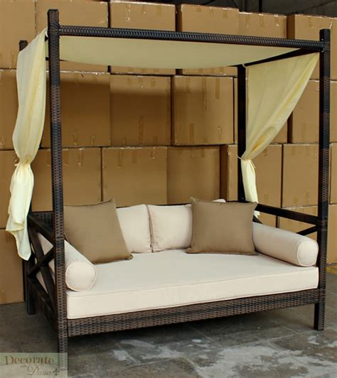 outdoor sofa with canopy outdoor bali style sun day bed lounger sofa w canopy patio