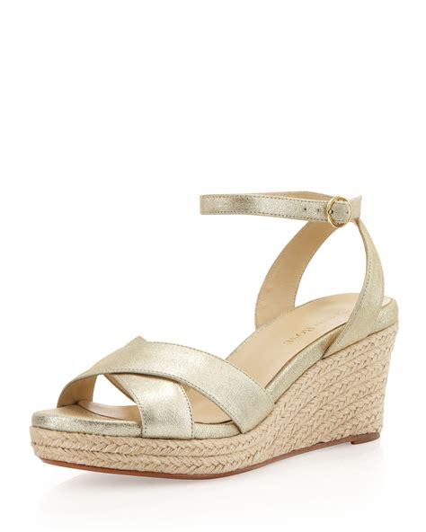 gold wedge sandals kellen espadrille wedge sandal gold in gold 6