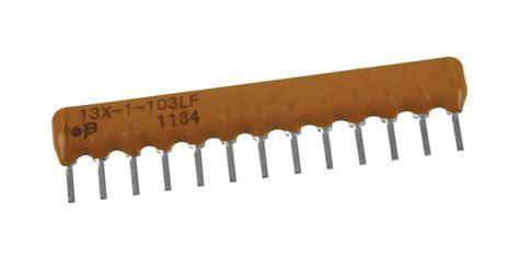resistor resistor array kohm  sip