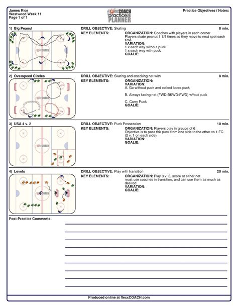 soccer practice plan template drill exchange westwood youth hockey