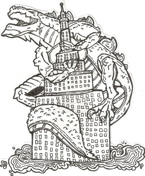 frenzy coloring book for all books american godzilla by kombatkamote on deviantart