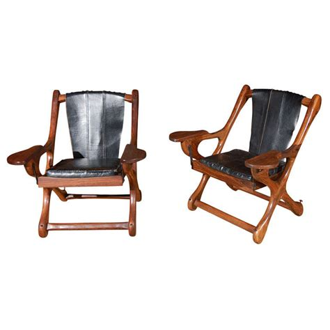 pair of don shoemaker sling folding chair at 1stdibs