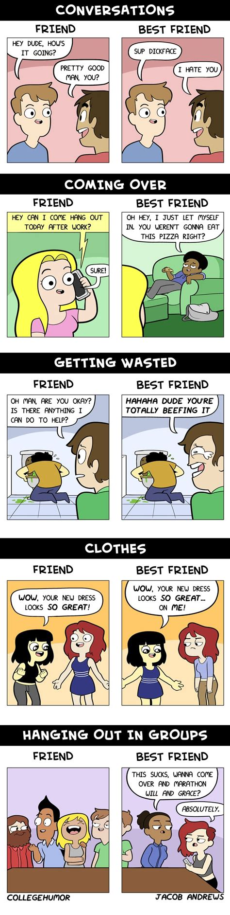 friend best friend friends vs best friends collegehumor post