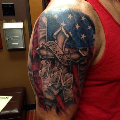 american flag and cross tattoo 85 best patriotic american flag tattoos i usa 2018