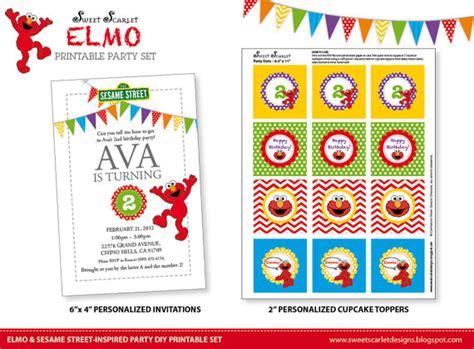 printable elmo birthday banner elmo birthday party printable set sesame street inspired