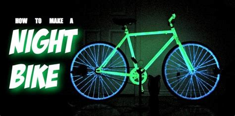 glow in the paint bicycle make your bike glow in the with phosphorescent