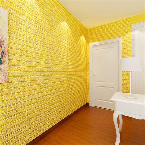 Sticker Wallpaper Dinding 3d Embosed Model Bata self adhensive 3d wall stickers bedroom decor foam brick