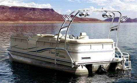 deck boat wake tower reinventing the wakeboard tower pontoon deck boat magazine
