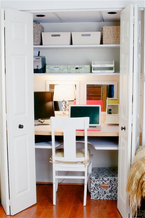 office space in a closet furnitureplans