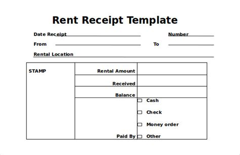 house rent receipts templates 35 rental receipt templates doc pdf excel free