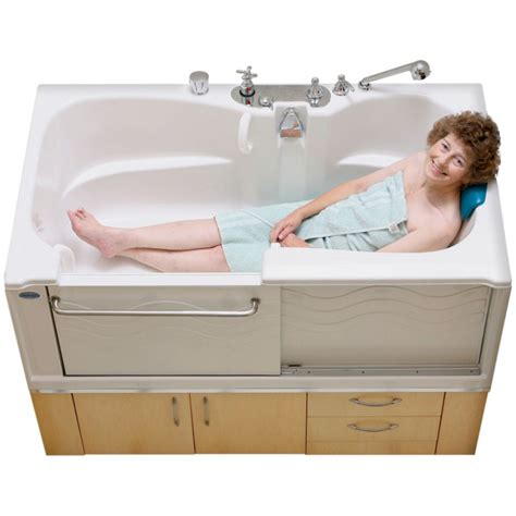 slide in bathtub adl spa slide in bath safety plus aquassure